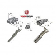 Stecker für den Nebenverbraucheranschluss bei Yamaha Tracer 700