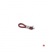KEYRING REVS LEATHER RED