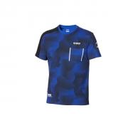 Yamaha Paddock Blue Camo-T-Shirt für Herren  B20-FT121-E1
