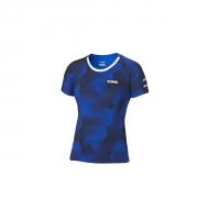 Yamaha Paddock Blue Camo-T-Shirt für Damen  B20-FT201-E1